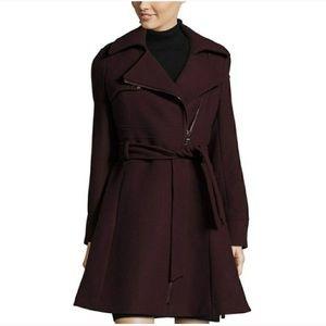 Catharine maladrino oxblood Burgandy wool coat